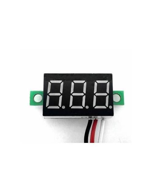 Voltímetro de panel 0-30V DC
